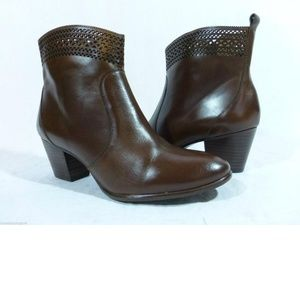 NEW Aerin Tilstone Brown Leather Ankle Boot